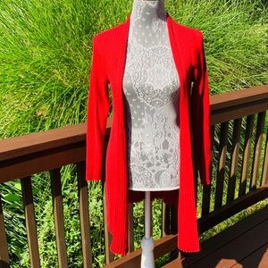 Chico's long Red Cardigan Sweater